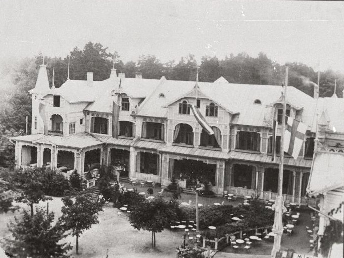 Hotell Bulduri suvituskohas (praegu Jūrmala linnaosa), Riia konverentsi toimumise koht. Foto: Rahvusarhiiv
