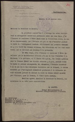 1931 sõlmiti ajutine kaubandusleping nootide vahetamise teel. Foto: Rahvusarhiiv
