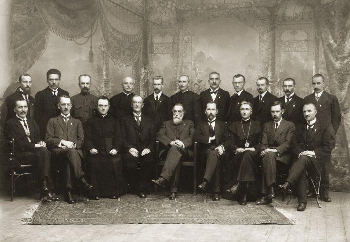 Leedu Rahvusnõukogu liikmed novembris 1917. Foto: Leedu Rahvusmuuseum